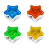 Set of pencil sharpeners Royalty Free Stock Images