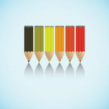 A set of pencils. Stock Images