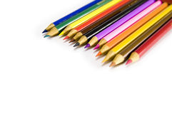 Set of pencils. On a white background royalty free stock photography