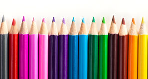 Set of pencils of different colors Stock Image