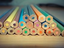 Set of pencils.Photo close up Background Stock Images