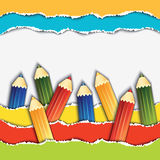 Set of the pencils. Royalty Free Stock Images