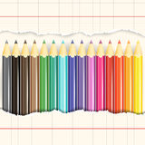 Set of pencils. Royalty Free Stock Images