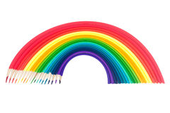 The set of pencils warped as a rainbow Stock Photos