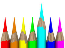 Set of pencils on white background Stock Image