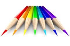 Set pencils on white background Royalty Free Stock Image
