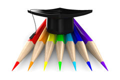 Set pencils on white background Royalty Free Stock Photos