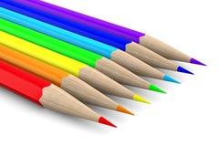 Set pencils on white background Stock Image