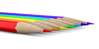 Set pencils on white background Royalty Free Stock Image