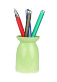 Set of pencils for a writing. Of different colours it is isolated on a white background Royalty Free Stock Photography