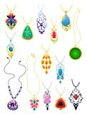 A set of pendants Stock Images