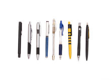 Set of pens Stock Image