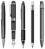 Set of pens and pencils Royalty Free Stock Image