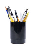 Set of pens with stand Royalty Free Stock Photos
