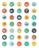 Set of Pentagon pastel icons Stock Images