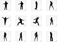 Set people Royalty Free Stock Images