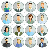 Set of people buttons Stock Photo