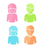 Set of People Characters Color Pictograms. Stock Image