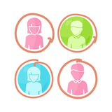 Set of People Characters Color Pictograms. Royalty Free Stock Photo