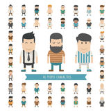 Set of 40 people characters Stock Photos
