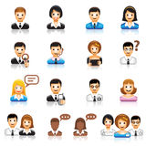 Set of people color icons. EPS file + jpg file stock illustration