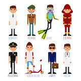 A set of people of different professions Royalty Free Stock Photography