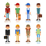 A set of people of different professions Royalty Free Stock Photo