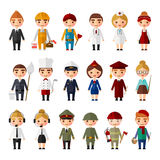 Set of people of different professions Stock Image