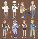 Set with people of different professions Stock Images