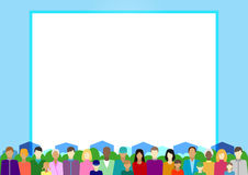 Set  with people, family, electorate etc on country. Vector illustration Royalty Free Stock Photos