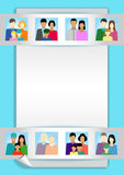 Set  with people, family, electorate etc Stock Photography