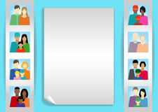 Set  with people, family, electorate etc. Vector illustration Royalty Free Stock Photography