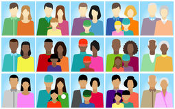 Set  with people, family, electorate etc. Vector illustration Royalty Free Stock Image