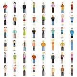 Set of people flat icons Stock Photos