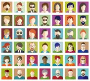 Set of People Flat icons. Royalty Free Stock Photo