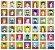 Set of People Flat icons. Royalty Free Stock Photo