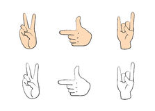 Set of people gestures Royalty Free Stock Images