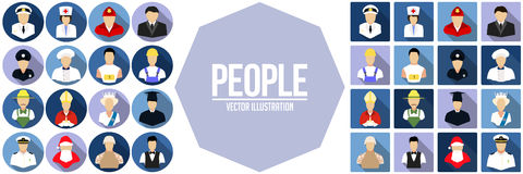 Set of people icon. Vector illustration Stock Images