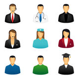 Set of people icons. That represent various jobs Vector Illustration