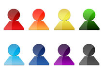 Set of People Icons. Set of colorful vector  icons Royalty Free Stock Photos