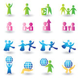 Set of people icons Royalty Free Stock Photos