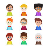 Set of people icons for avatars. Stock Photography