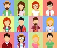set of people icons. Cartoon vector illustration Royalty Free Stock Photography