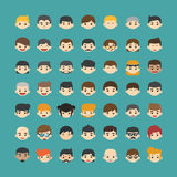 Set of people icons Royalty Free Stock Photo