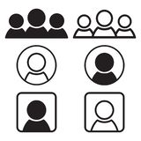 Set of people icons. Flat and outline design. Vector illustration vector illustration