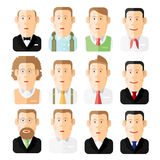 Set of people icons in flat style Different occupations age and style. On white royalty free illustration