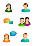 Set of People icons Royalty Free Stock Images