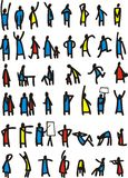 Set of people icons Royalty Free Stock Image