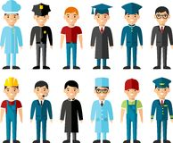 Set of people icons. Occupation avatars in colorful style Stock Image