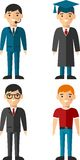 Set of people icons. Occupation avatars in colorful style Stock Photography